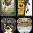 ANTONIO BROWN (4) Card Lot (2012, 14 + 15)  STEELERS