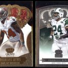 DARRELLE REVIS 2013 Panini Crown Royale Gold + 2015 Silver.  BUCS / JETS