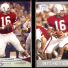 JIM PLUNKETT 2012 Upper Deck #28 + 2013 Ultra #43.  STANFORD