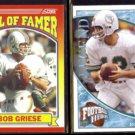 BOB GRIESE 2009 UD Heroes #'d Insert 06/99 + 1990 Score HOF.  DOLPHINS
