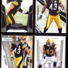 TROY POLAMALU (4) Card Panini + Topps Lot (2010 + 2011).  STEELERS