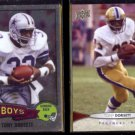 TONY DORSETT 2015 Topps Chrome + 2012 Upper Deck.  COWBOYS / PANTHERS