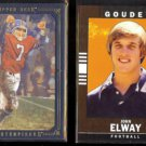JOHN ELWAY 2008 UD Masterpieces (Black) #'d Insert 018/150 + 2014 UD Goodwin Champs.