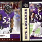 RAY LEWIS 2012 Panini Absolute Spectrum #7 + 2004 UD Legends #5.  RAVENS