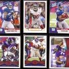 NY GIANTS (6) Card Lot w/ STARS / RC's.  (2010 - 2013)