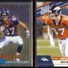 ERIC DECKER 2010 Topps Chrome Rookie #C98 + 2010 Donruss Rated Rookie #8.  BRONCOS