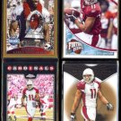 LARRY FITZGERALD (4) Card Lot w/ (3) #'d Inserts + Refractor.  CARDINALS