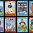 VINTAGE NFL (1971) Topps Lot w/ HOF / Stars.  KARRAS, W. JOHNSON, LITTLE, MOSES++