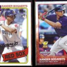 XANDER BOGAERTS 2014 Topps RC #93 + 2015 Topps Opening Day #155.  RED SOX