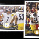 STEELERS (2) Team Cards 2013 + 2012 Topps w/ Big Ben.  PITTSBURGH