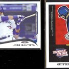 JOSE BAUTISTA 2014 Topps #323 + 2012 Panini Triple Play #233.  BLUE JAYS