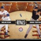 NOLAN RYAN / ROBIN VENTURA 2004 Donruss Leather + Lumber #'d Insert 0508/2499.