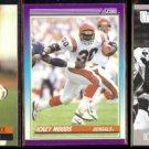 ICKEY WOODS (3) Card Lot (1990, 91 + 2013)  BENGALS / UNLV