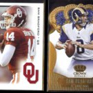 SAM BRADFORD 2010 Sage Hit Rookie + 2013 Panini Crown Royale Gold.  RAMS