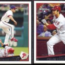 CHASE UTLEY 2009 Topps #200 + 2009 Topps #UH71.  PHILLIES