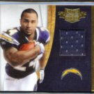 RYAN MATHEWS 2010 Panini Plates & Patches (PATCH) Rookie Blitz #'d Insert 211/299.  CHARGERS