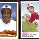 FRANK ROBINSON 1989 Topps #774 + 2014 Topps Retro #32.  ORIOLES / REDS