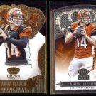 ANDY DALTON 2013 Panini Crown Royale Gold + Silver.  BENGALS