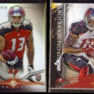 MIKE EVANS 2014 Topps Platinum RC + 2015 Topps Gridiron Warriors Insert.  BUCS