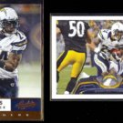 RYAN MATHEWS 2012 Panini Absolute #78 + 2013 Topps #389.  CHARGERS
