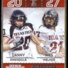 AMENDOLA + WELKER 2015 Panini Contenders Collegiate Connections #19.  RED RAIDERS
