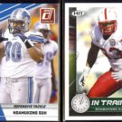 NDAMUKONG SUH 2010 Donruss Rated Rookie #79 + Sage In Training #68.  LIONS
