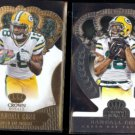 RANDALL COBB 2013 Panini Crown Royale Gold + 2014 Silver.  PACKERS