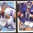 PHIL SIMMS (2) 2009 UD Heroes Legend #'d Inserts 63/99 + 06/35.  GIANTS