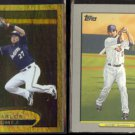 CARLOS GOMEZ 2012 Topps Gold Foil Insert + 2009 Topps Turkey Red.  BREWERS / TWINS