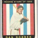 DAN DOBBEK 1959 Topps Rookie #124.  SENATORS