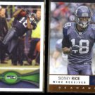 SIDNEY RICE 2012 Topps #94 + Panini Absolute #86.  SEAHAWKS