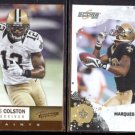 MARQUES COLSTON 2012 Panini Absolute #65 + 2010 Score #183.  SAINTS