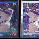 JORGE SOLER 2015 Topps Opening Day Rookie Foil Insert w/ sister.  CUBS