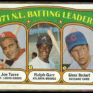 JOE TORRE 1972 Topps Batting Leaders w/ Beckert + Garr.  CARDS