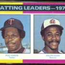 ROD CAREW 1975 Topps #306 (Batting Leaders) w/ Ralph Garr.  TWINS