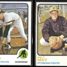 GENE ALLEY #635 + MILT MAY #529 - 1973 Topps.  PIRATES
