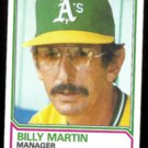 BILLY MARTIN 1983 Topps #156.  A's