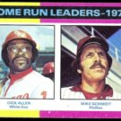 MIKE SCHMIDT 1975 Topps HR Leaders #307.  PHILLIES