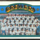 BREWERS 1972 Topps Team Card #106