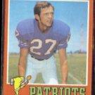 TOM JANIK 1971 Topps #82.  PATRIOTS