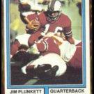 JIM PLUNKETT 1974 Topps #435.  PATRIOTS