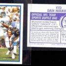 DAN MARINO (2) 1985 Topps mini Stickers #69.  DOLPHINS