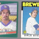 DALE SVEUM 1986 Topps Traded + 1986 Donruss The Rookies.  BREWERS