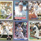 ROBIN YOUNT (6) Card Lot (1988 - 1994).  BREWERS