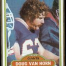 DOUG VAN HORN 1980 Topps #114.  GIANTS