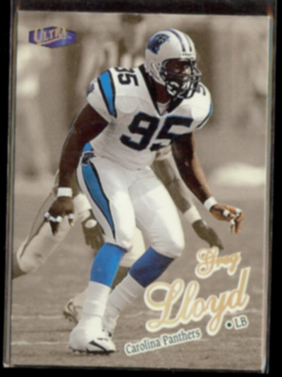 GREG LLOYD 1998 Ultra Gold Medallion Insert #307G.  PANTHERS