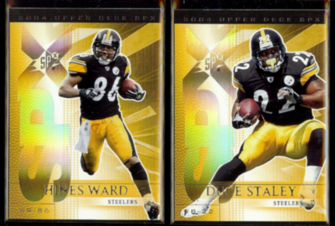 HINES WARD 2004 UD SPX + DUCE STALEY 2004 UD SPX.  STEELERS