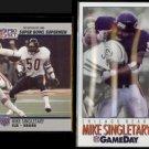 MIKE SINGLETARY 1990 Pro Set #93 + 1992 Fleer Game Day #108.  BEARS