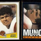 ANTHONY MUNOZ 1988 Topps #345 + 1985 Topps #219.  BENGALS