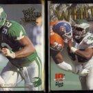 REGGIE WHITE 1992 + 1993 Action Packed ALL MADDEN TEAM.  EAGLES
